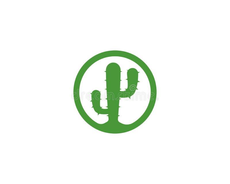Ejemplo del icono del vector de la plantilla del logotipo del cactus libre illustration
