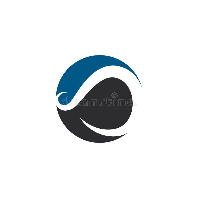 Ejemplo del icono del vector de la plantilla del logotipo del infinito ilustración del vector