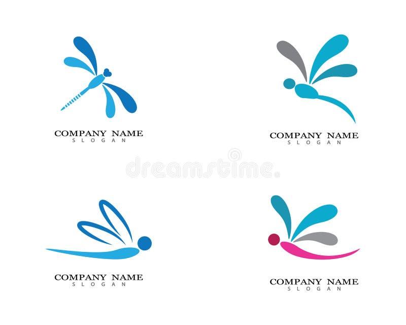 Ejemplo del icono del vector de la plantilla del logotipo de la lib?lula libre illustration
