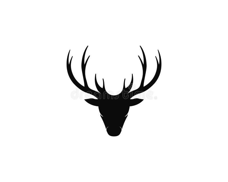 Ejemplo del icono del vector de la plantilla del logotipo de los ciervos ilustración del vector