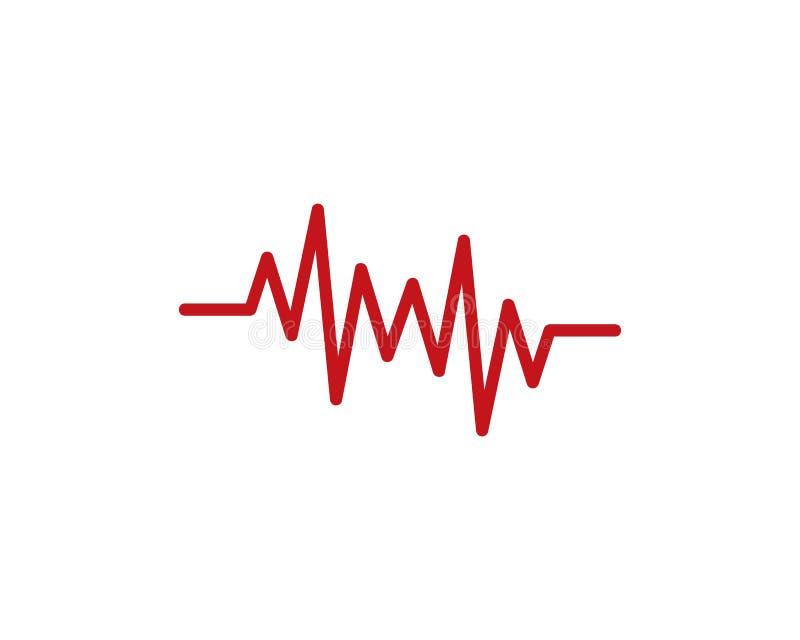 Ejemplo del icono del vector de la plantilla del logotipo del pulso libre illustration