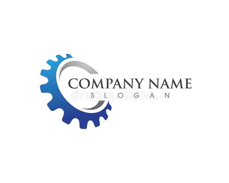 Ejemplo del icono del vector de Logo Template del engranaje libre illustration