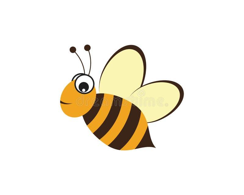 Ejemplo del icono del vector de Logo Template de la abeja stock de ilustración