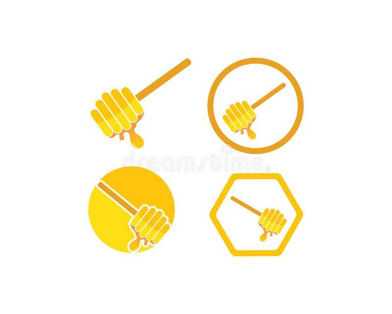 ejemplo del icono del vector de Logo Template de la abeja de la miel ilustración del vector