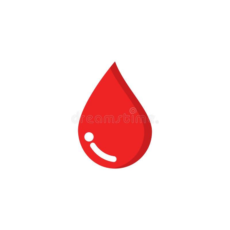 Ejemplo del icono del vector del logotipo de la sangre libre illustration