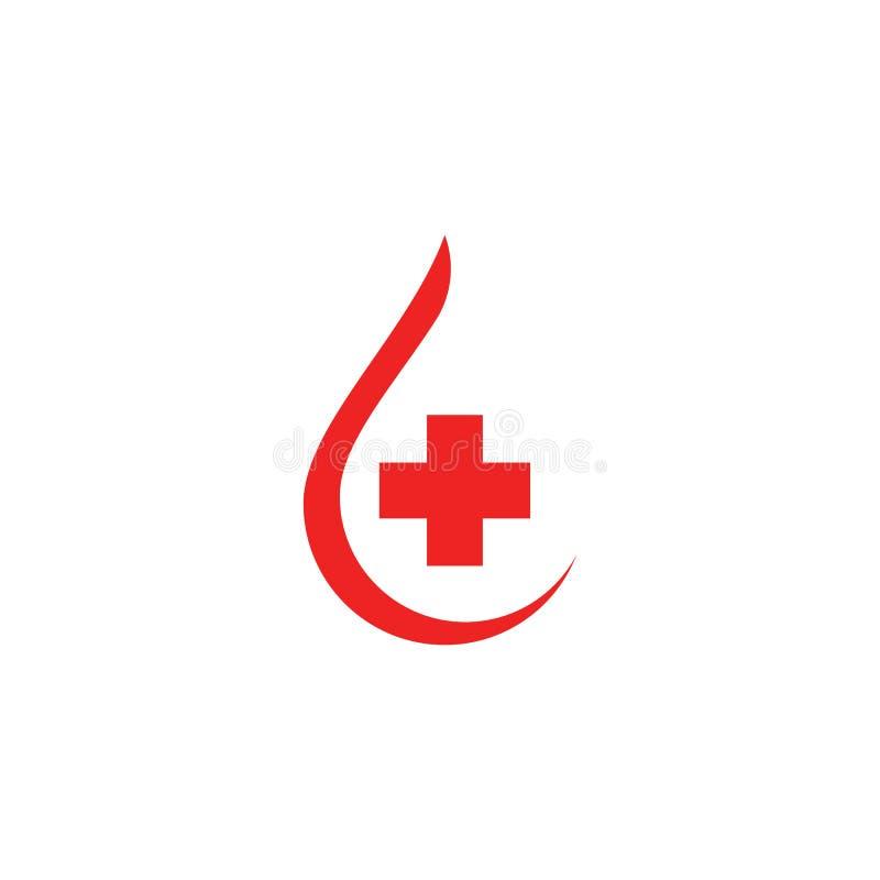 Ejemplo del icono del vector del logotipo de la sangre ilustración del vector