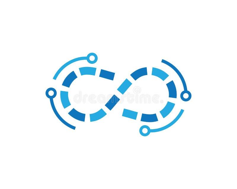 Ejemplo del icono del vector del símbolo del infinito ilustración del vector