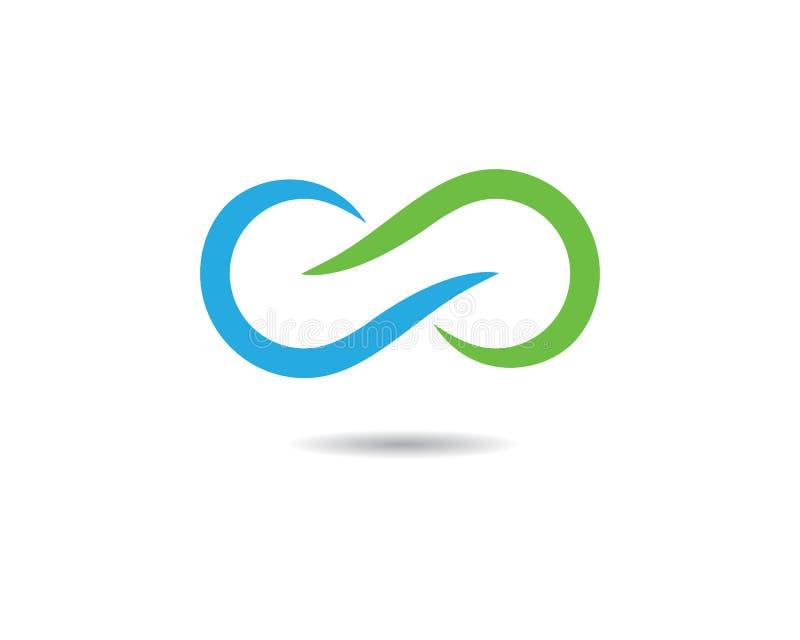 Ejemplo del icono del vector del símbolo del infinito stock de ilustración