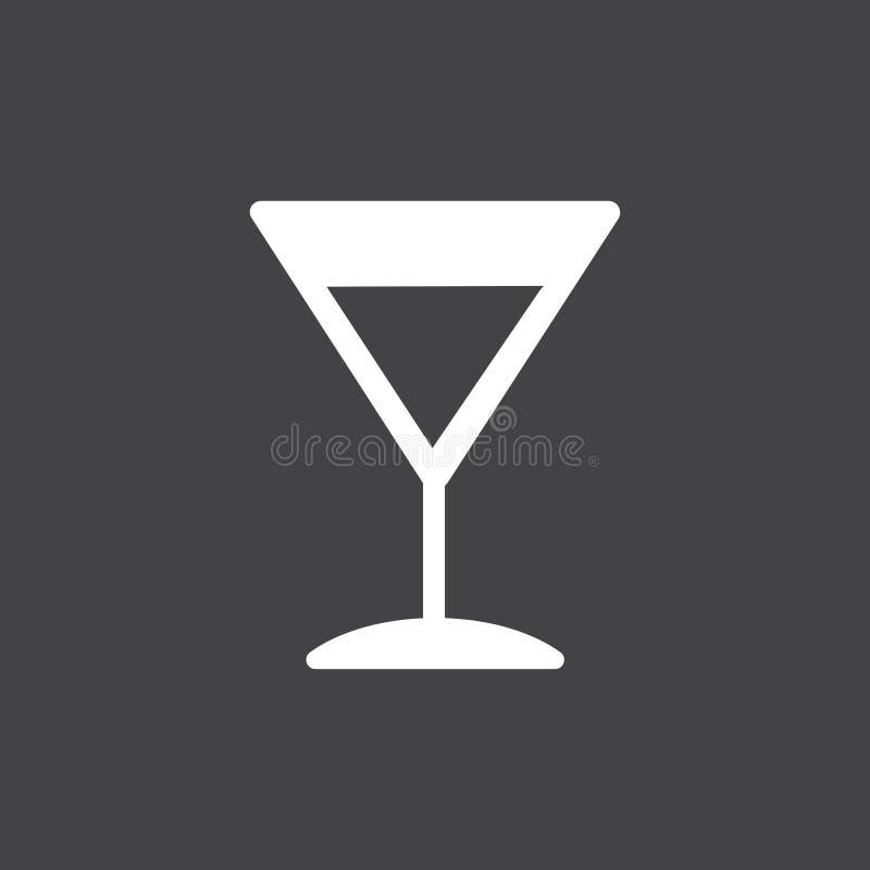 Ejemplo del icono del vidrio de cóctel de Martini ilustración del vector