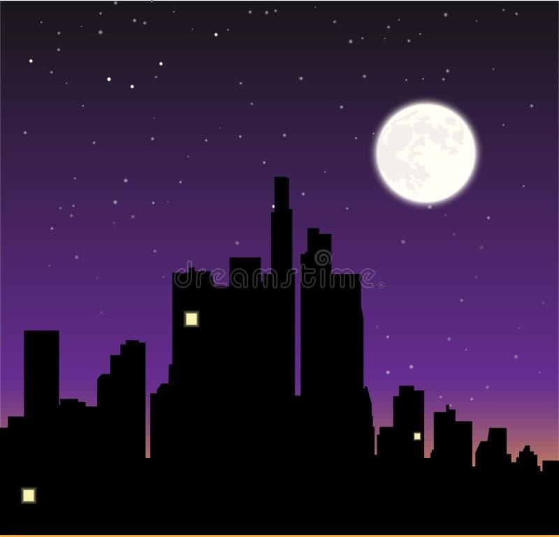 Ejemplo del insomnio stock de ilustración