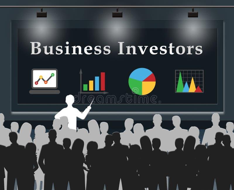 Ejemplo del inversor 3d de la acción de los medios de los inversores del negocio ilustración del vector