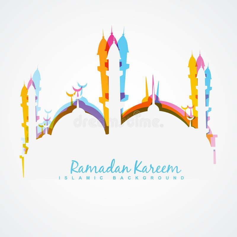 Ejemplo del kareem del Ramadán stock de ilustración