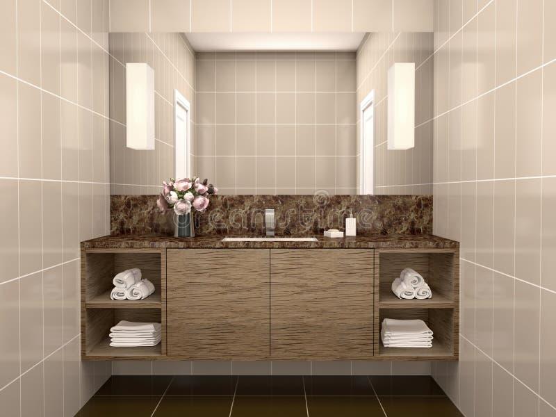 Ejemplo del lavabo con el espejo libre illustration