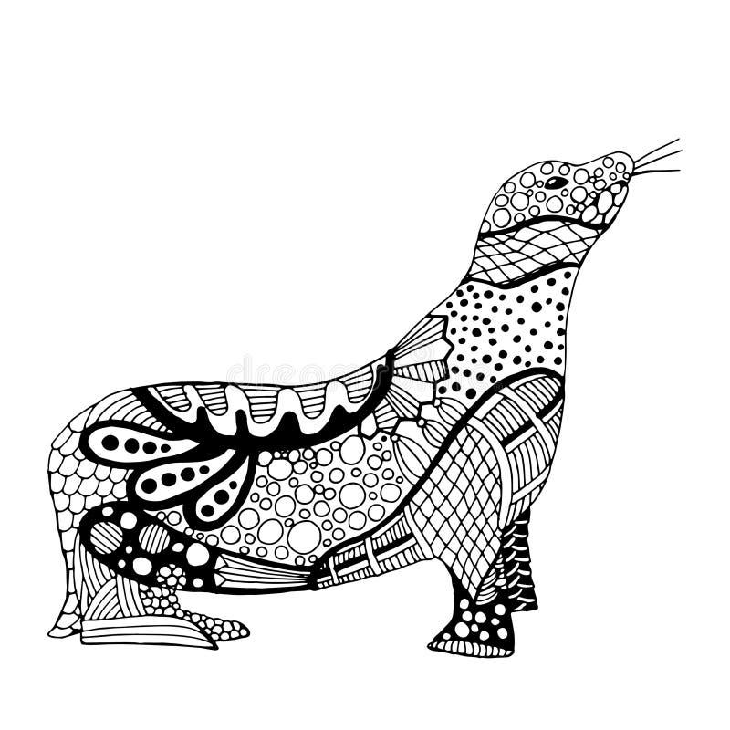Ejemplo del león marino stock de ilustración