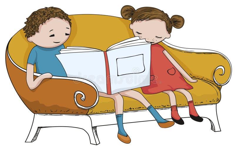 Libro de lectura del niño libre illustration