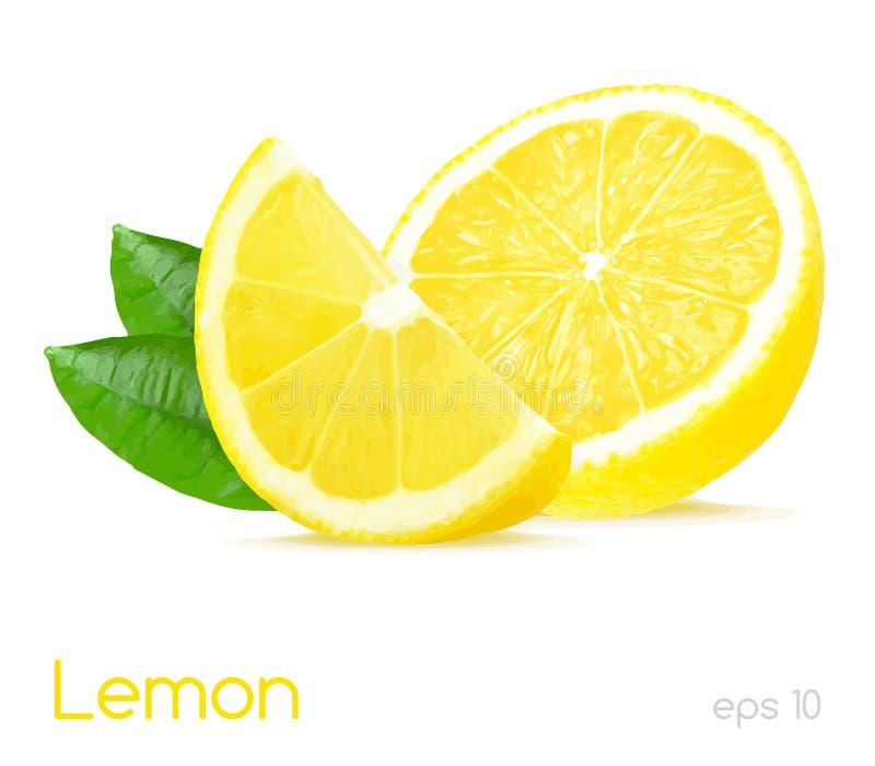 Ejemplo del limón imagen de archivo
