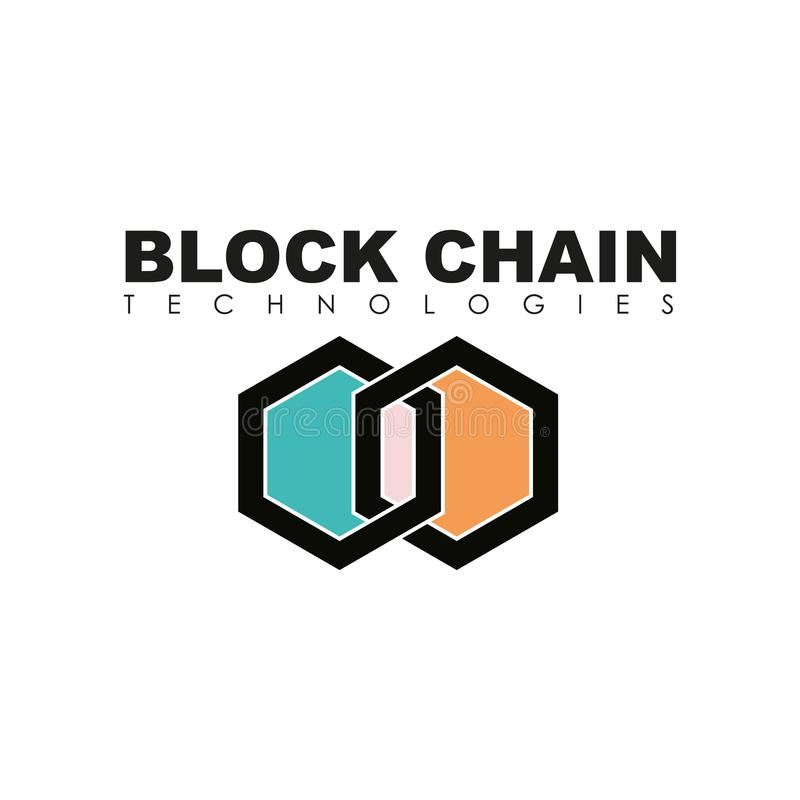 Ejemplo del logotipo de la cadena de bloque del negocio ilustración del vector