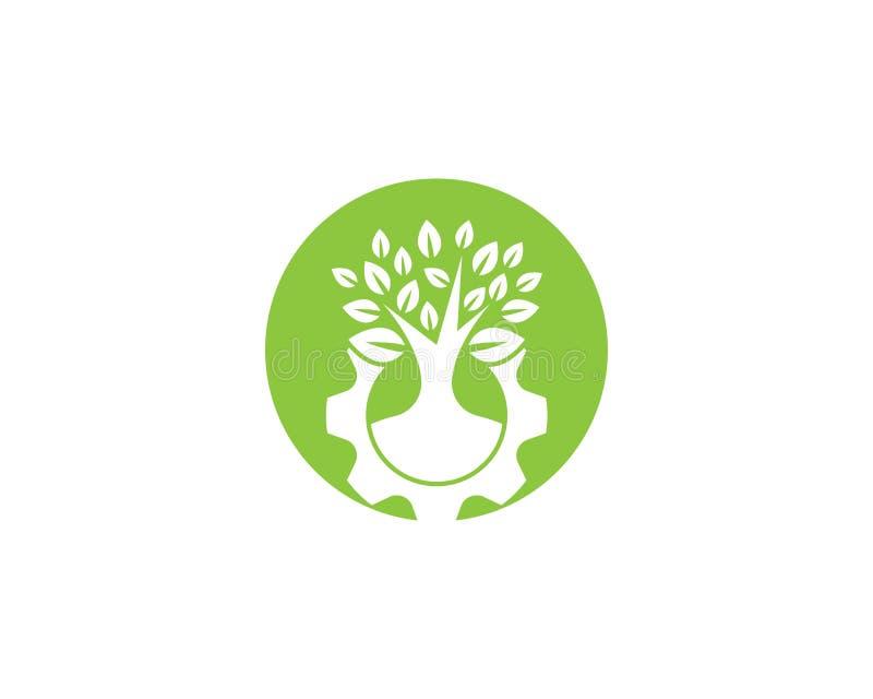 Ejemplo del logotipo de la ecolog?a stock de ilustración