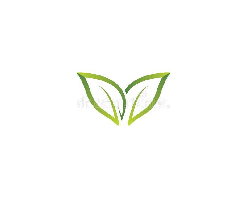 Ejemplo del logotipo de la ecolog?a ilustración del vector
