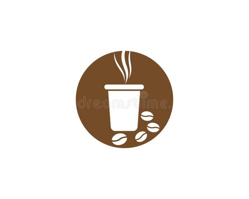 Ejemplo del logotipo de la taza de café stock de ilustración