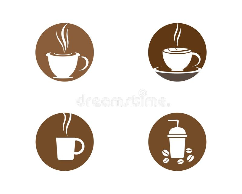Ejemplo del logotipo de la taza de café libre illustration