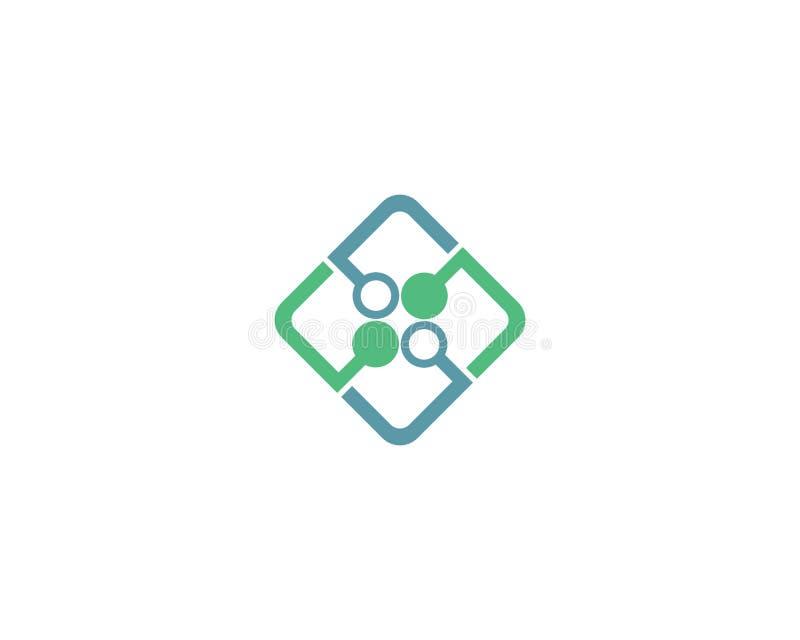 Ejemplo del logotipo de la tecnolog?a libre illustration
