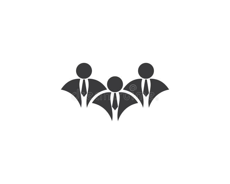 Ejemplo del logotipo del hombre de negocios stock de ilustración