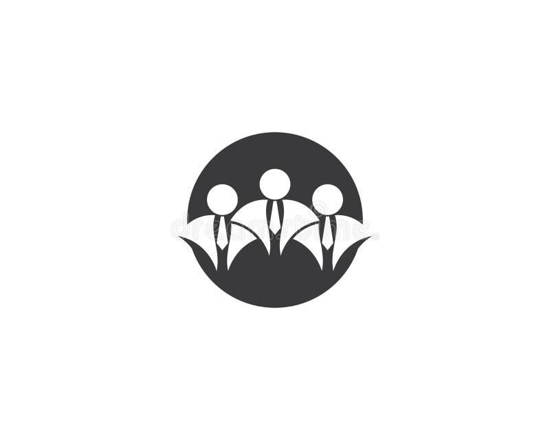 Ejemplo del logotipo del hombre de negocios ilustración del vector