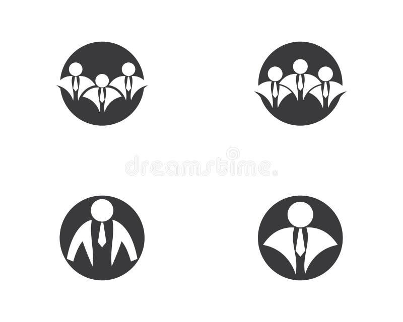 Ejemplo del logotipo del hombre de negocios libre illustration