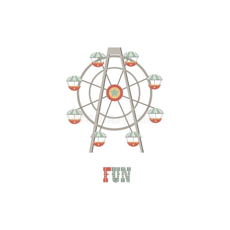 ejemplo del logotipo Noria en el fondo aislado blanco libre illustration
