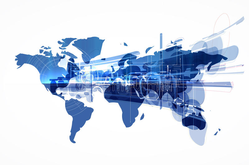 Ejemplo del mapa del mundo stock de ilustración