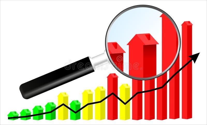 Ejemplo del mercado inmobiliario libre illustration