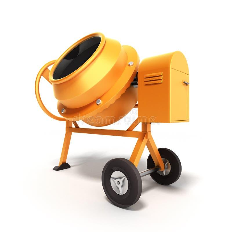 Ejemplo del mezclador concreto 3D en blanco ilustración del vector