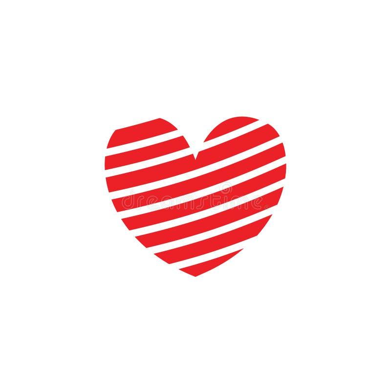 Ejemplo del modelo del amor o concepto del logotipo stock de ilustración