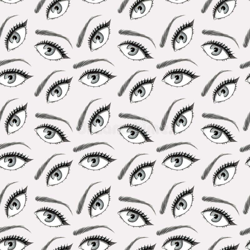 Ejemplo del modelo de ojos ilustración del vector