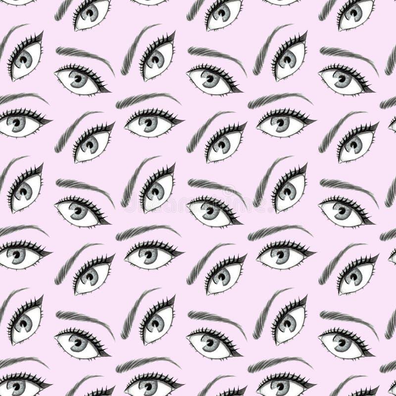 Ejemplo del modelo de ojos stock de ilustración
