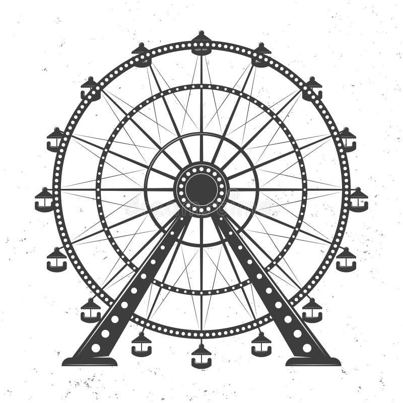 Ejemplo del monocromo del vector de la noria stock de ilustración
