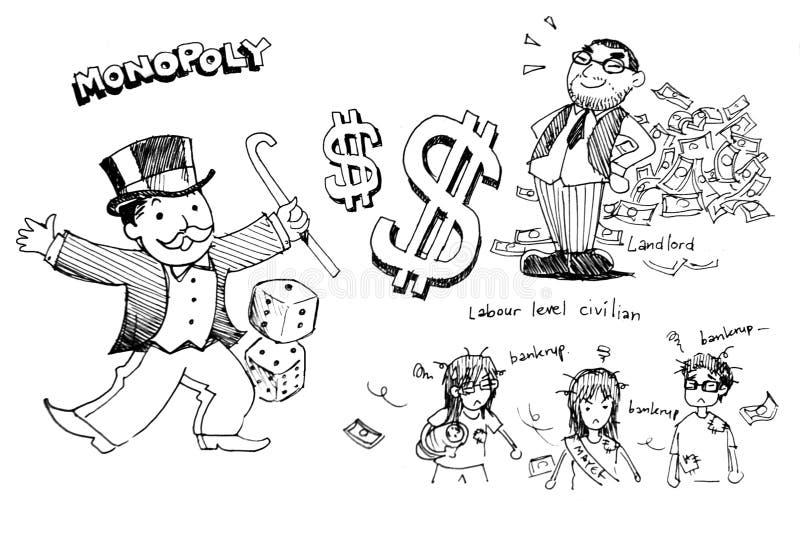 Ejemplo del monopolio ilustración del vector