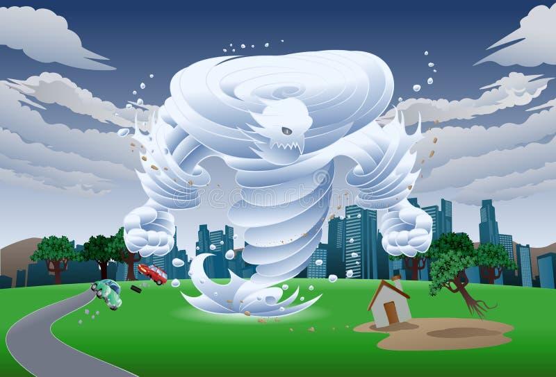 Ejemplo del monstruo del tornado del viento libre illustration