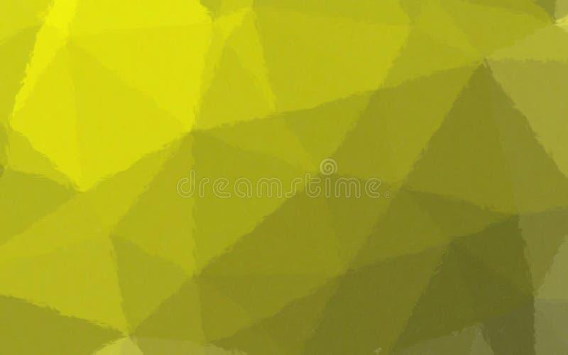 Ejemplo del mosaico en colores pastel amarillo limón y verde a través del fondo de los ladrillos de cristal stock de ilustración