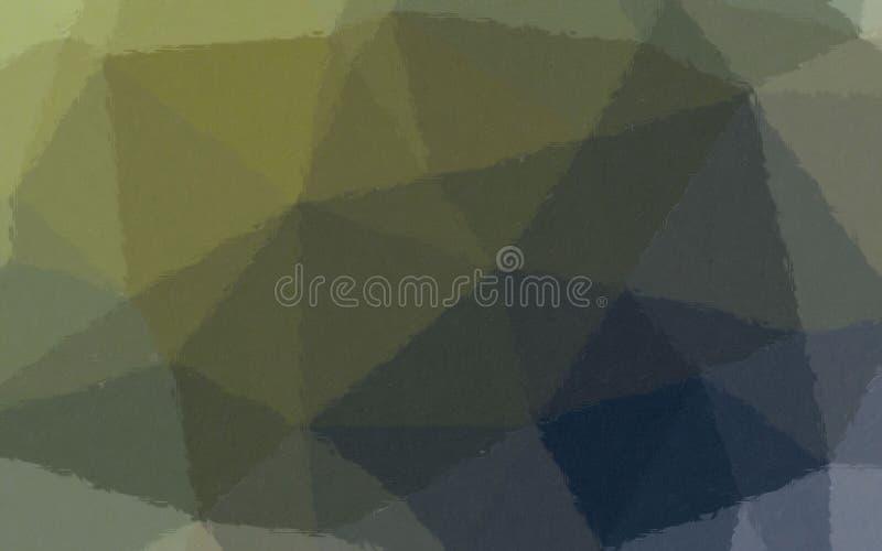 Ejemplo del mosaico en colores pastel del marrón, amarillo y azul a través del fondo de los ladrillos de cristal libre illustration