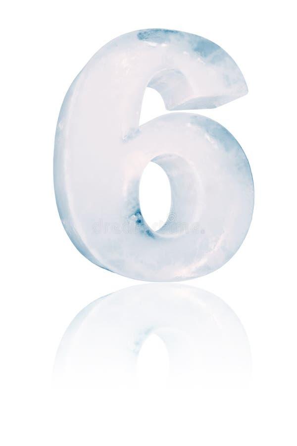 Ejemplo del número seis del hielo ilustración del vector