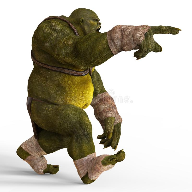 Ejemplo del ogro 3D stock de ilustración