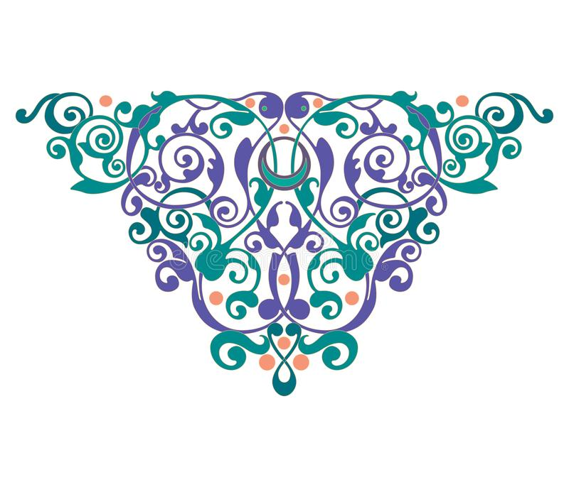 Ejemplo del ornamento del extracto de la decoración del ejemplo del ornamento del extracto del heartdecoration de la mandala ilustración del vector