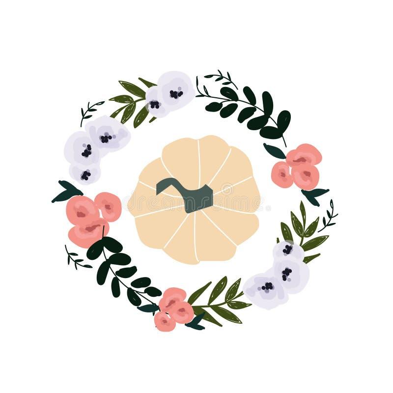 Ejemplo del otoño - calabaza, hojas libre illustration