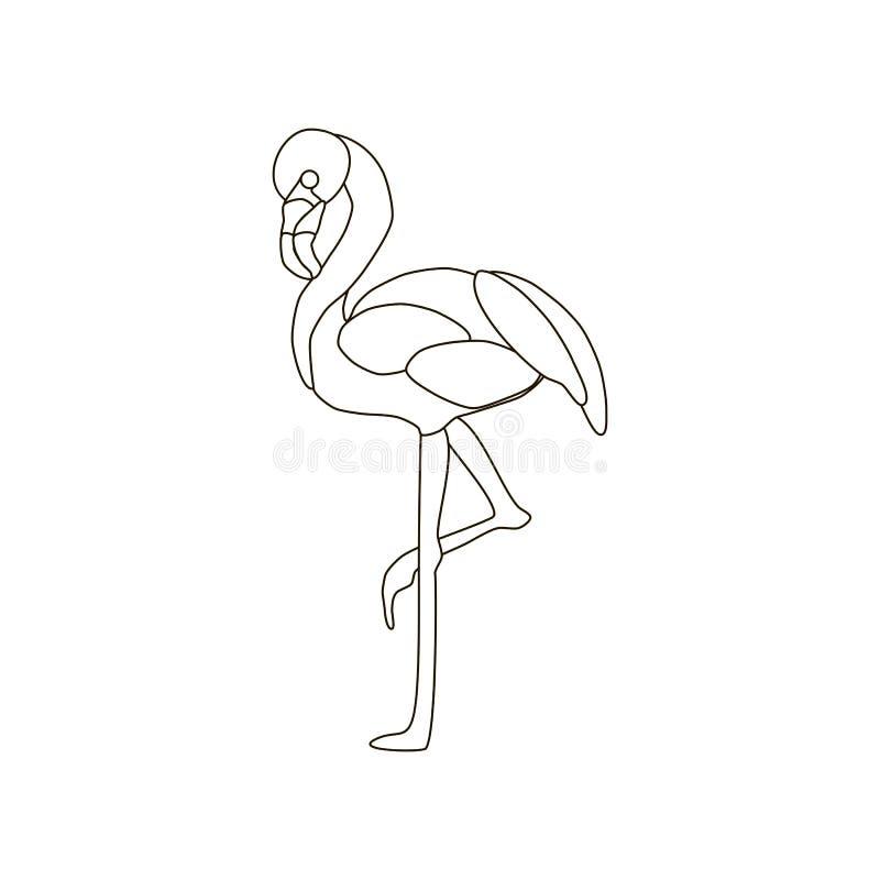 Ejemplo del pájaro del flamenco libre illustration