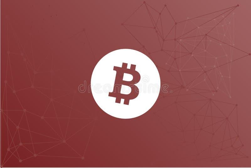 Ejemplo del paño de la bandera de Bitcoin BTC crypto ilustración del vector