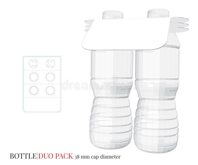 Ejemplo del paquete del dúo de la botella, vector con capas cortado con tintas/del laser libre illustration