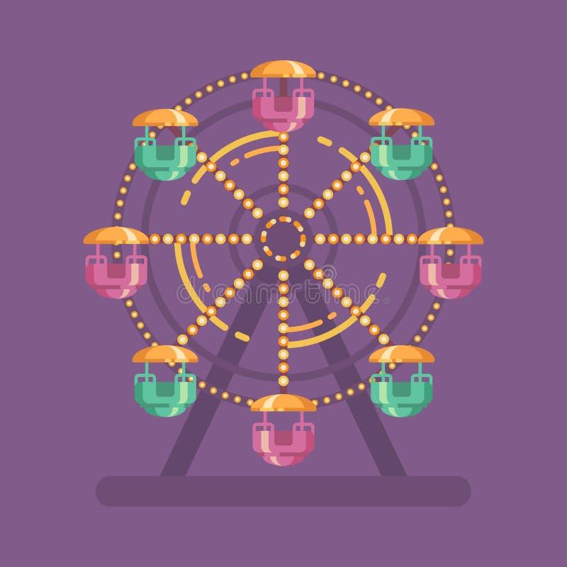 Ejemplo del parque de atracciones Ferris Wheel stock de ilustración