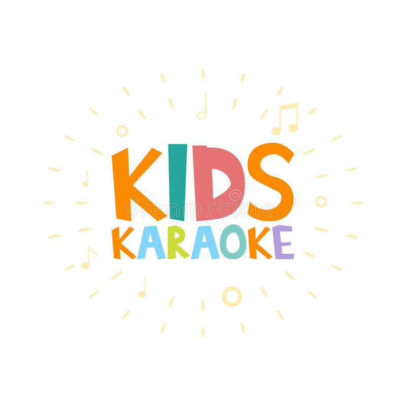 Ejemplo del partido del Karaoke de los niños stock de ilustración